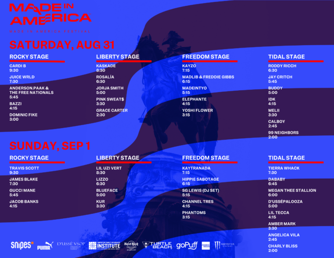 made in america fest time 1